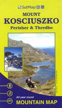 Mount Kosciuszko Perisher Thredbo Sutmap Laminated