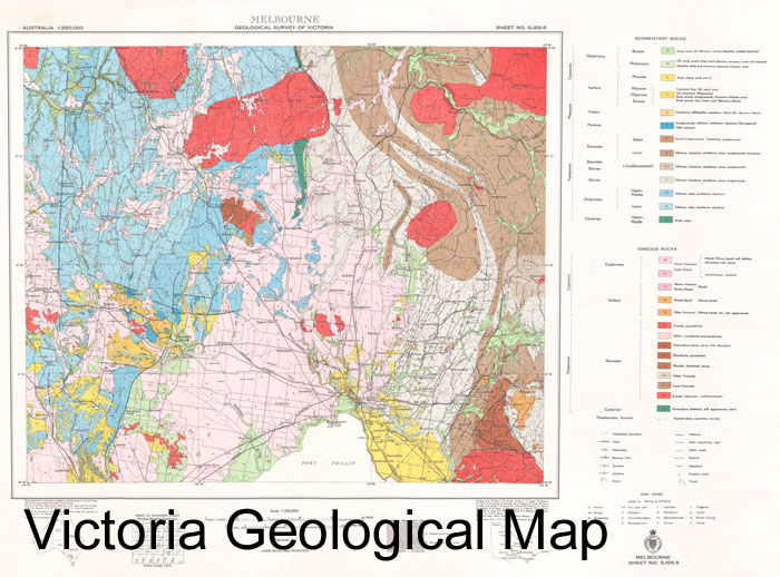 Beaufort 1-100000 Geological Map Victoria