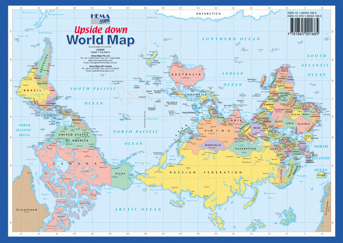 Map Of Australia To Buy.World Upside Down A4 Hema Maps Books Travel Guides Buy Online