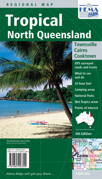 Tropical North Queensland Map Hema