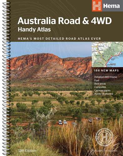 Australia Road and 4WD Handy Atlas Hema Spiral