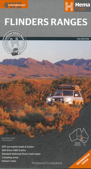 Flinders Ranges Map Hema