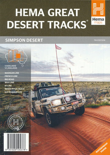 Great Desert Tracks Simpson Desert Map Hema
