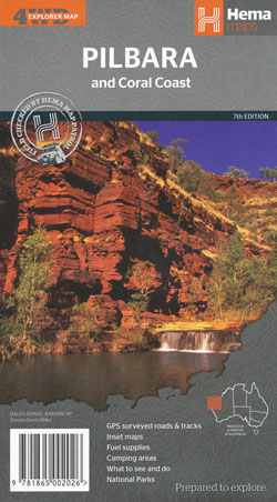 Pilbara and the Coral Coast Map Hema
