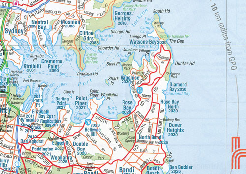 Sydney and Region Map Hema Old Edition